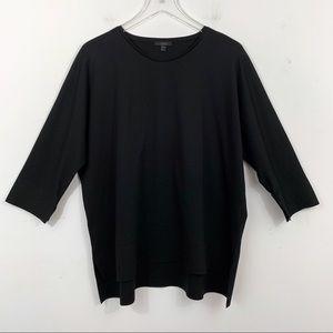 COS Oversize Boxy Fit Black Top Size M Cotton EUC